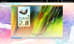 The GIMP (v 2.8) starting up